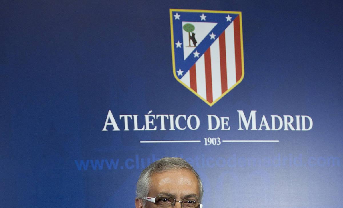 Fotografía de archivo tomada durante una rueda de prensa en el estadio Vicente Calderón de Ma ...