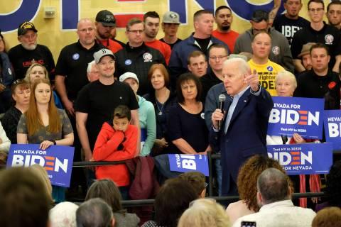 En esta foto de archivo, el ex-vicepresidente Joe Biden habló con varios cientos de simpatizan ...