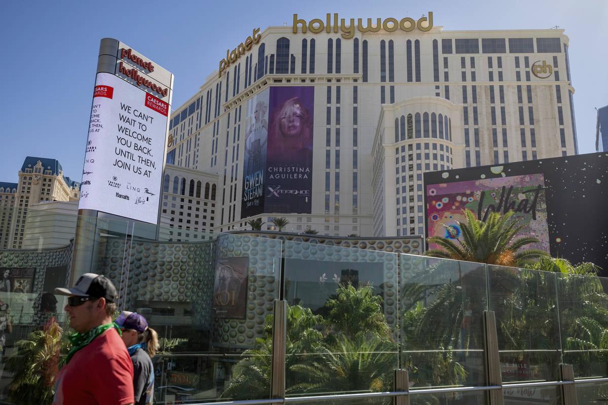 Una vista del Planet Hollywood de Las Vegas el miércoles, 12 de agosto de 2020. (Elizabeth Bru ...