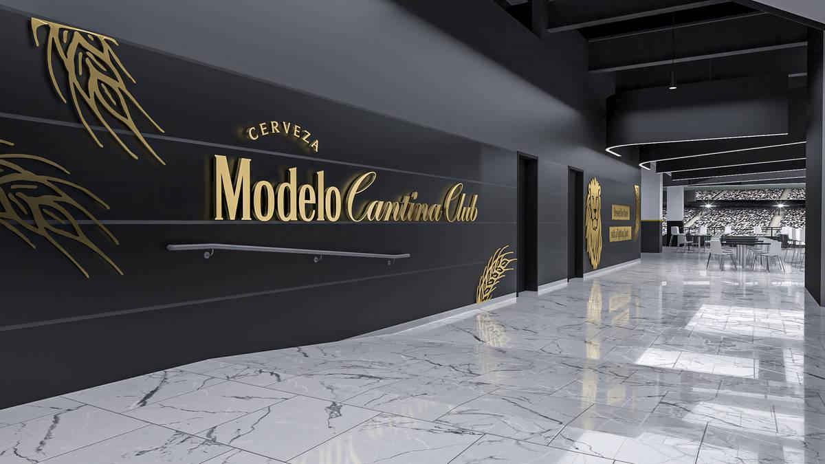 Representación artística de la Modelo Cantina Club de 26 mil pies cuadrados en el Estadio All ...