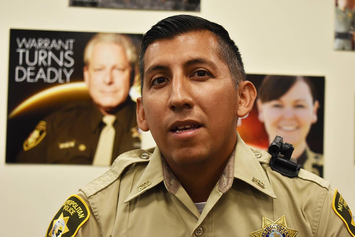 El oficial Milton Miramontes solicitó trabajar en la zona este de Las Vegas como una manera de ...