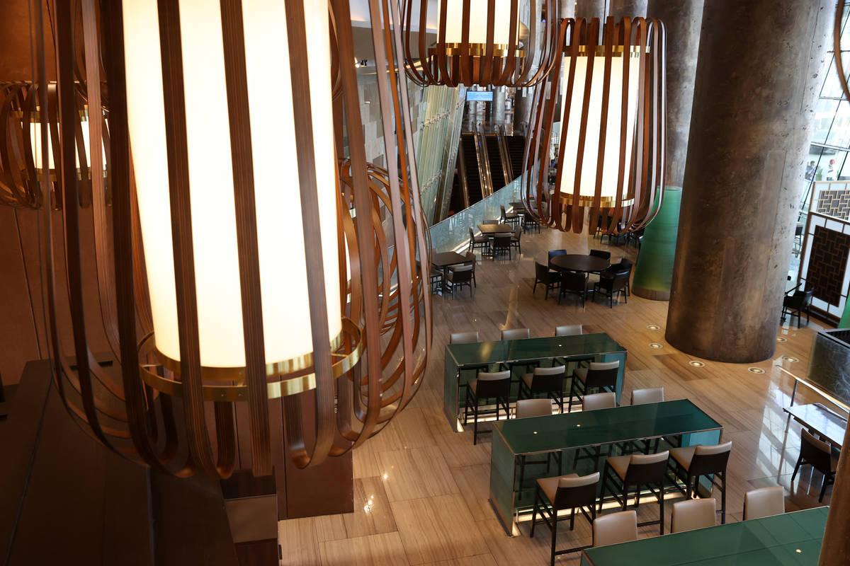El comedor al interior del nuevo restaurante Din Tai Fung del hotel-casino Aria de Las Vegas, m ...