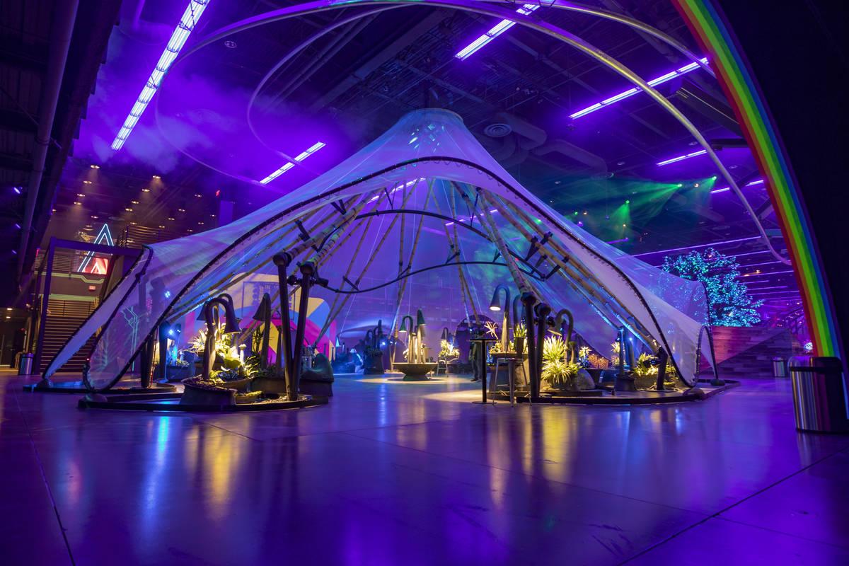 Area15 días antes de su apertura en Las Vegas el lunes, 14 de septiembre de 2020. (Elizabeth P ...