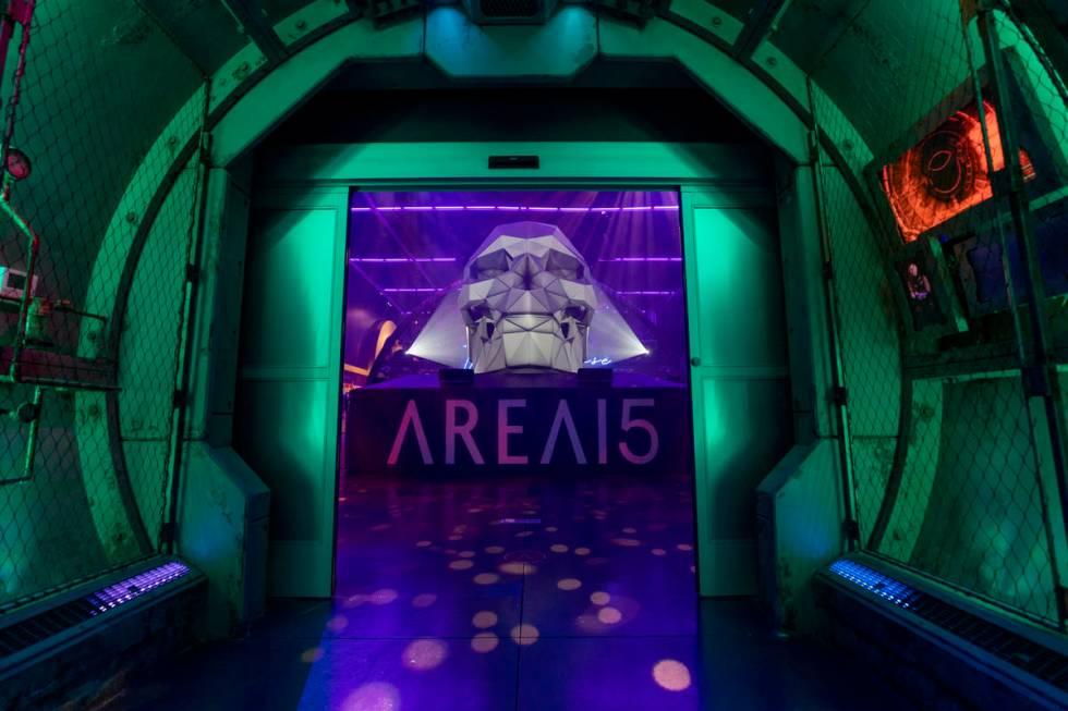 La entrada de Area15 en Las Vegas el lunes, 14 de septiembre de 2020. (Elizabeth Page Brumley / ...
