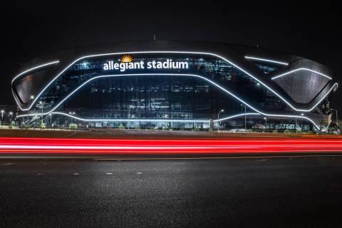 Estadio Allegiant el miércoles, 26 de agosto de 2020, en Las Vegas. (Benjamin Hager/Las Vegas ...