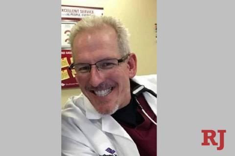 Greg Peistrup en el Hospital North Vista en 2020. (Cortesía de Kristin Bell-Peistrup)