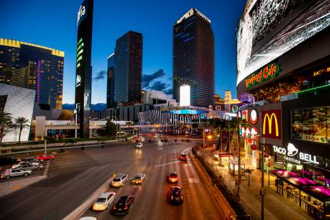 The Cosmopolitan of Las Vegas, marzo de 2020. (L.E. Baskow/Las Vegas Review-Journal) @Left_Eye_ ...