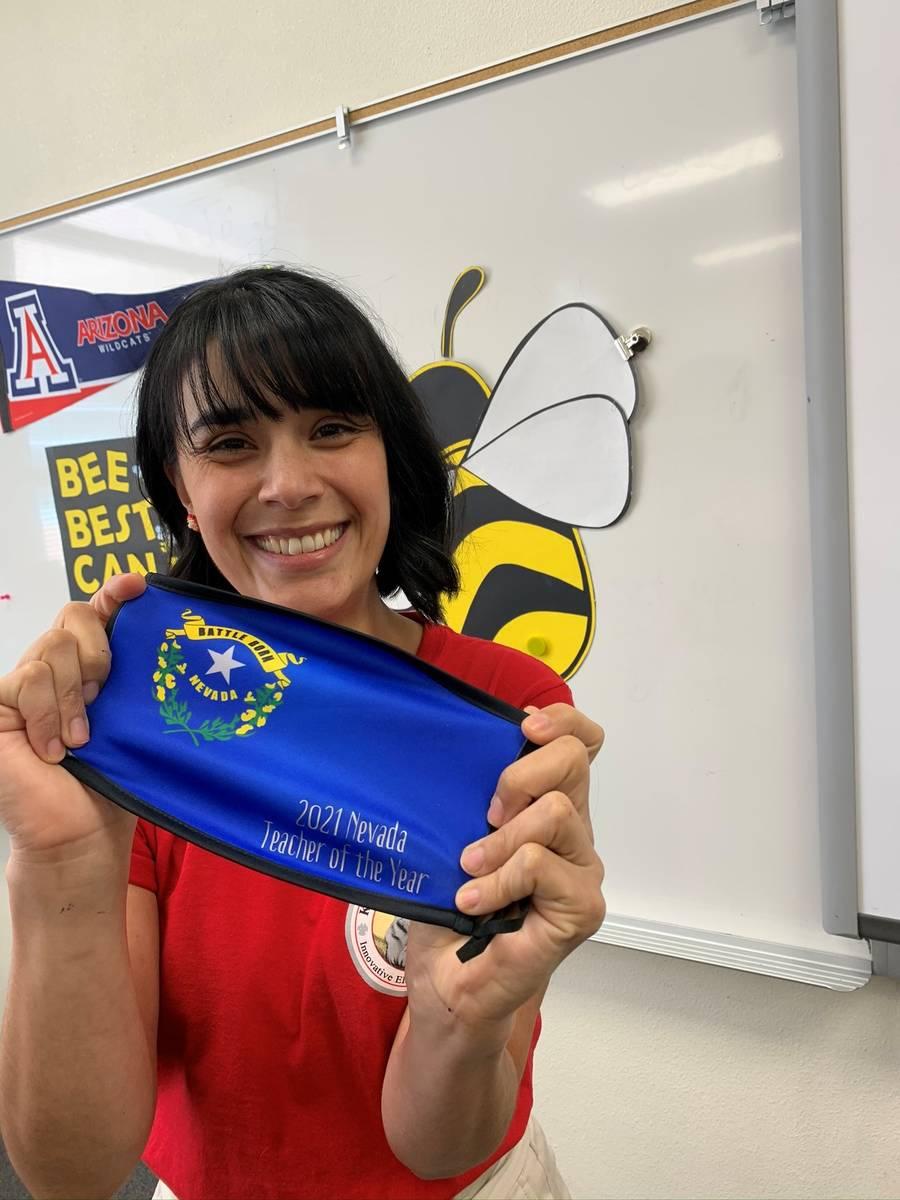 La estratega de aprendizaje de la primaria Booker Sr. Innovative, Juliana Urtubey, fue nombrada ...