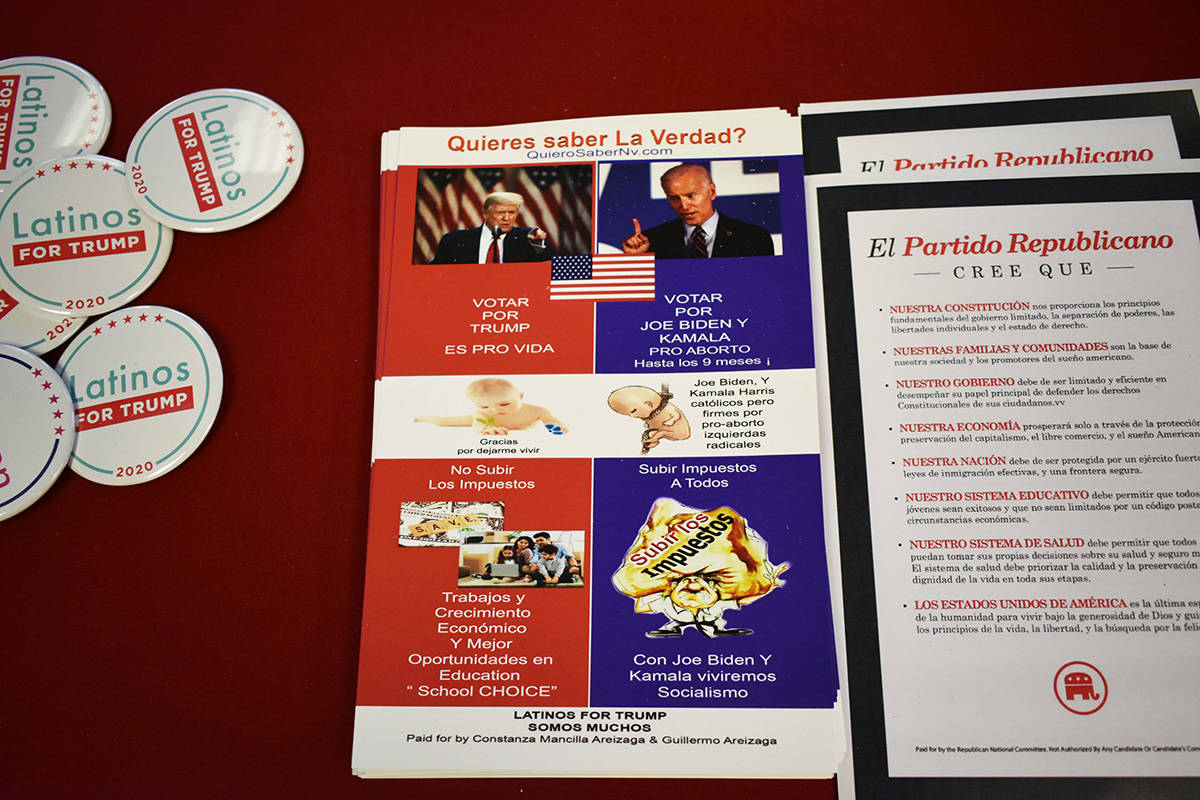 La campaña del presidente Donald Trump sigue esforzándose por obtener el voto latino. Martes ...