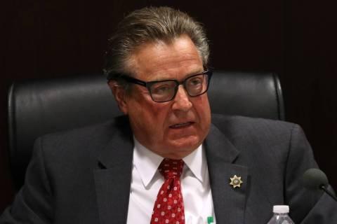 El comisionado John T. Moran Jr., habla durante una reunión de la Comisión de Juegos de Nevad ...