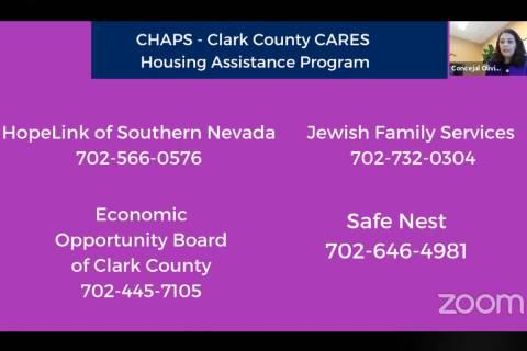 La concejal de Las Vegas, Olivia Díaz, dio información sobre organizaciones que pueden ayudar ...