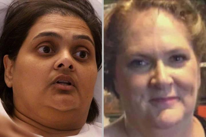 Samanta Arjune, izquierda, y Kimberly Gervais fueron heridas en el tiroteo masivo del Strip de ...