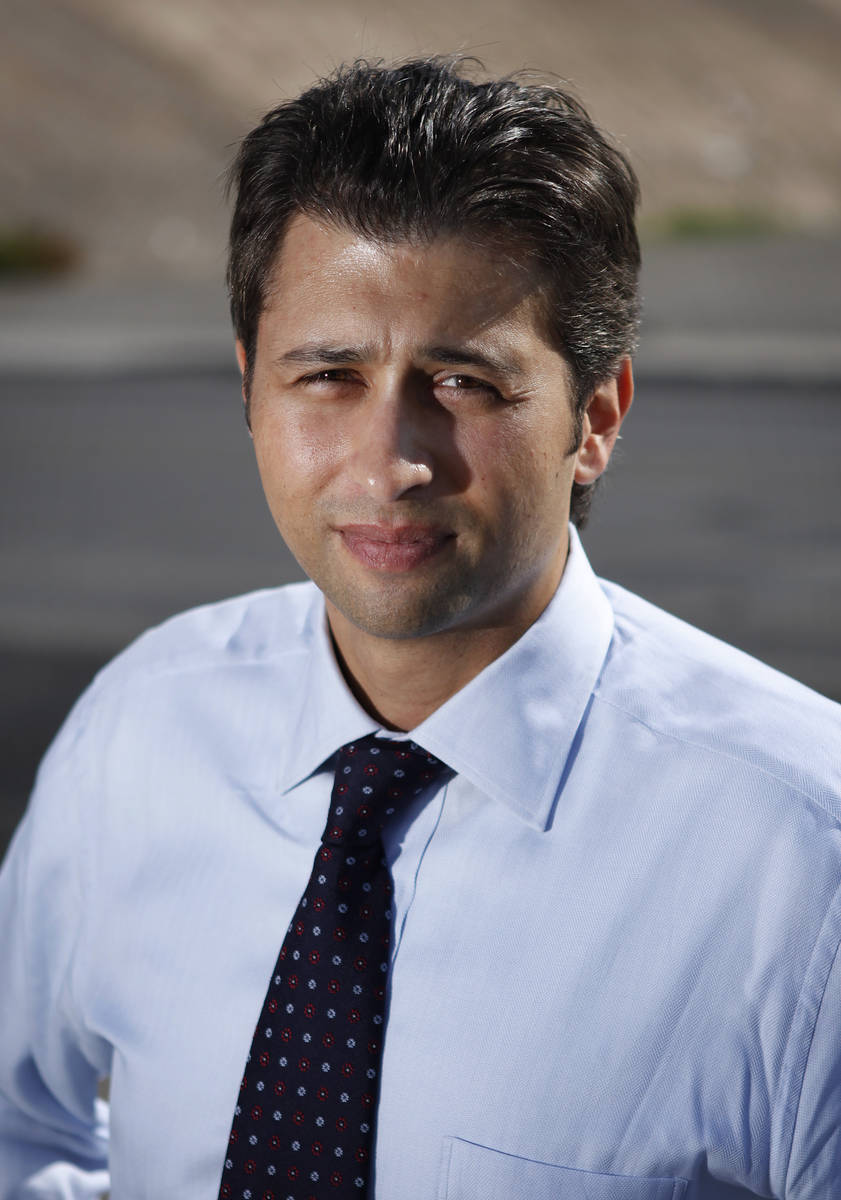El abogado Brian Padgett en octubre de 2011 en Las Vegas. (John Locher/Las Vegas Review-Journal)