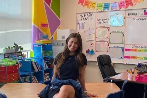 Taylor Martin en su salón de clases en la primaria Tyrone Thompson. (Taylor Martin)