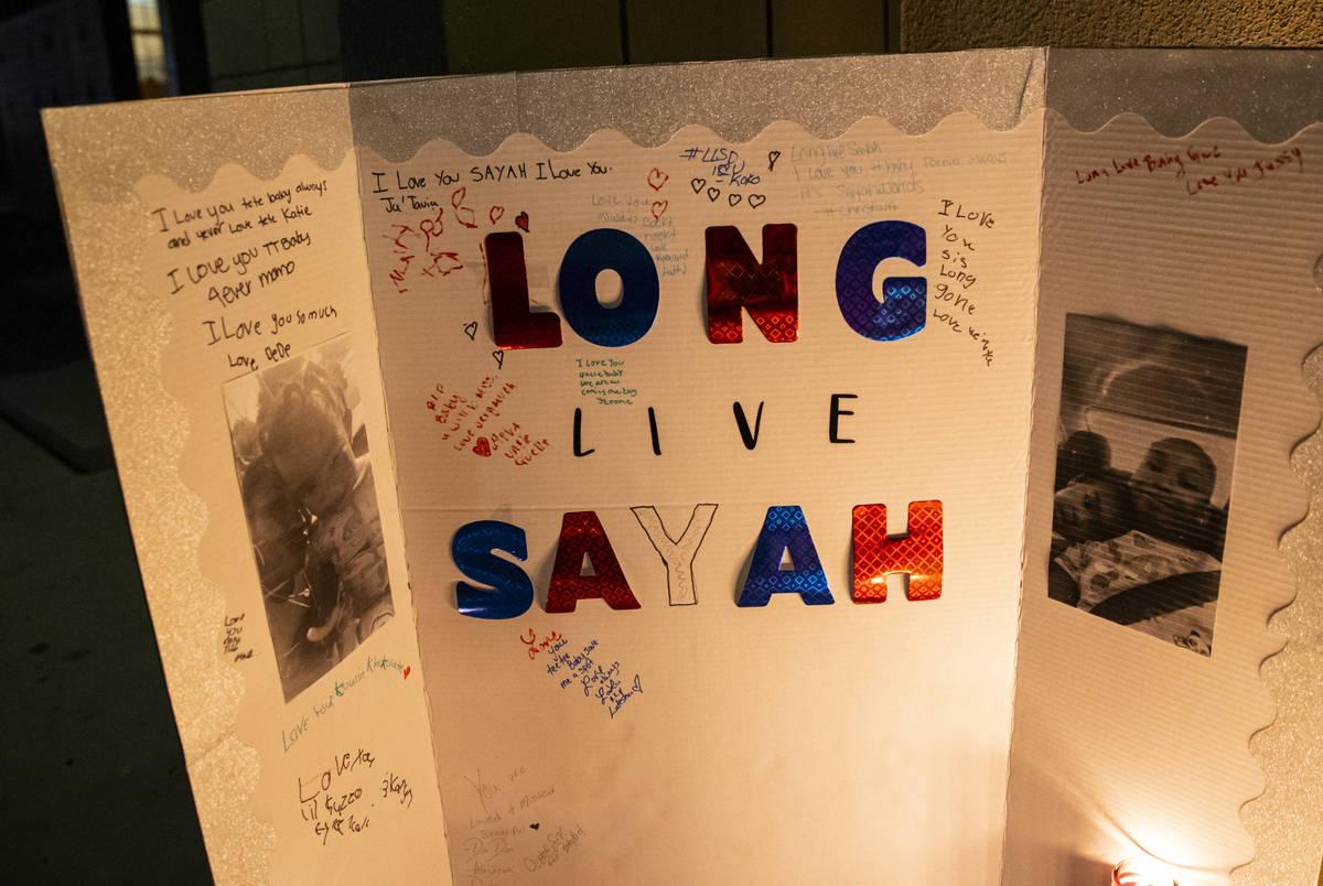 Mensajes en memoria de Sayah Deal de un año en Las Vegas el martes, 6 de octubre de 2020. Deal ...