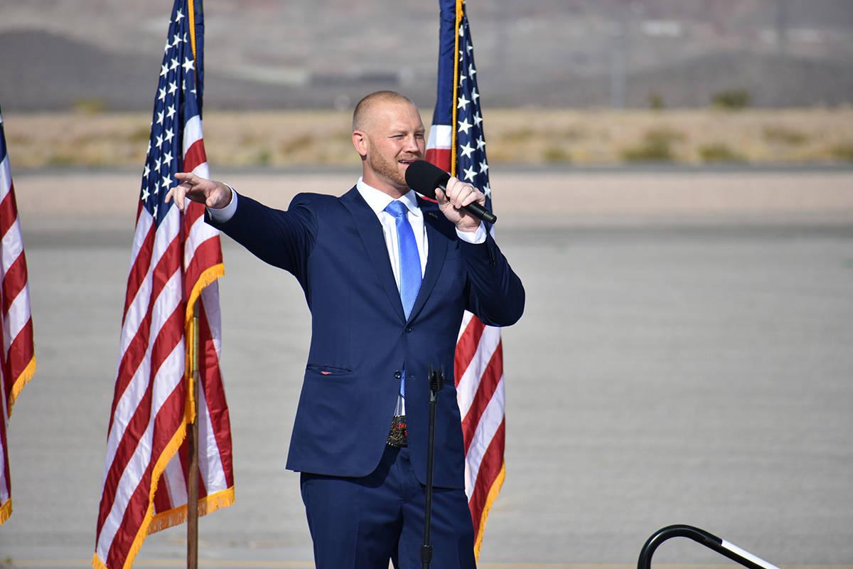 El candidato al Congreso por el Distrito 3, Dan Rodimer, aprovechó su intervención para pedir ...