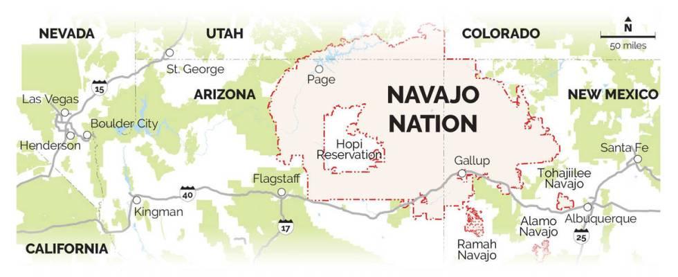 La reserva tiene más de 170 mil habitantes y abarca 27 mil acres de tierra en cuatro estados d ...