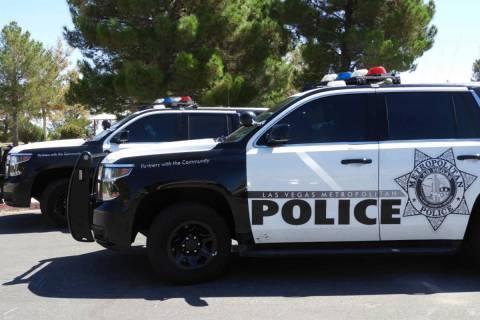 Patrullas del Departamento de Policía Metropolitana de Las Vegas. [Foto Las Vegas Review-Journal]