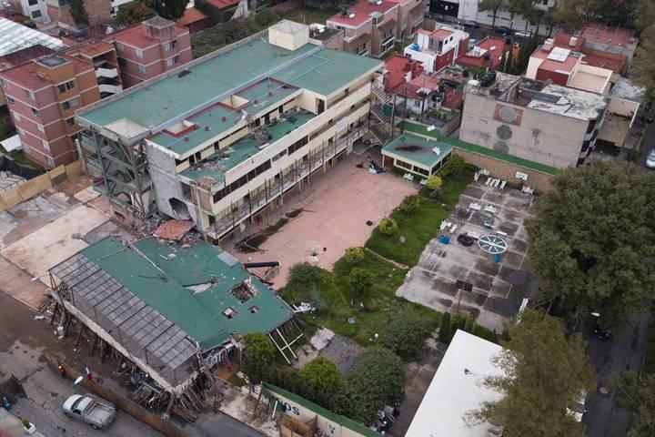 La escuela primaria Enrique Rébsamen se vino abajo en el terremoto de magnitud 7,1 ocurrido el ...