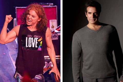 Carrot Top, izquierda, y David Copperfield son parte de los artistas que regresarán a los hote ...