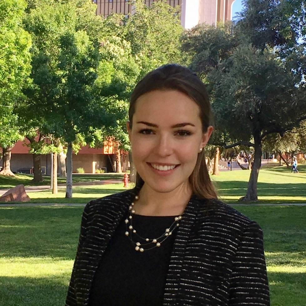 El estudiante de doctorado de la UNLV, Casey Barber, es una de las tres líderes estudiantiles ...