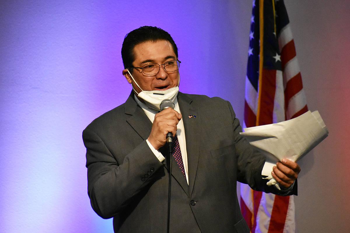 """Durante el evento de """"Latinos for Trump"""", analista conservador, Jesús Márquez, realizó p ..."""