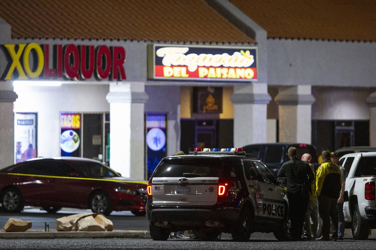La Policía Metropolitana investiga un homicidio en un negocio cerca de 3603 North Las Vegas Bo ...