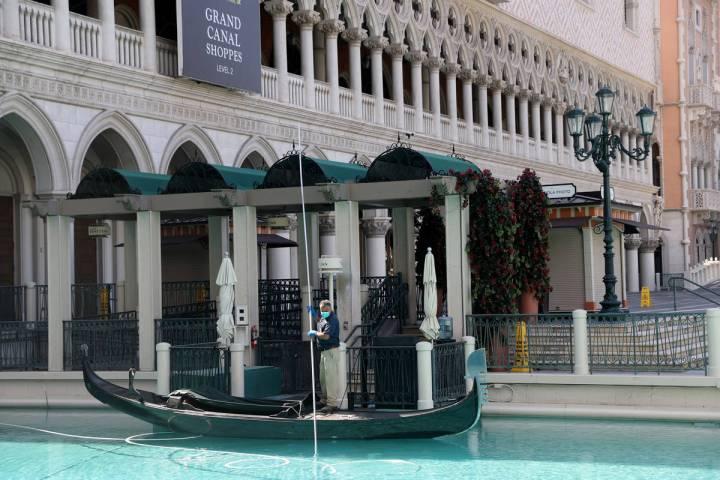 The Venetian el martes, 17 de marzo de 2020, en Las Vegas. (Benjamin Hager/Las Vegas Review-Jou ...