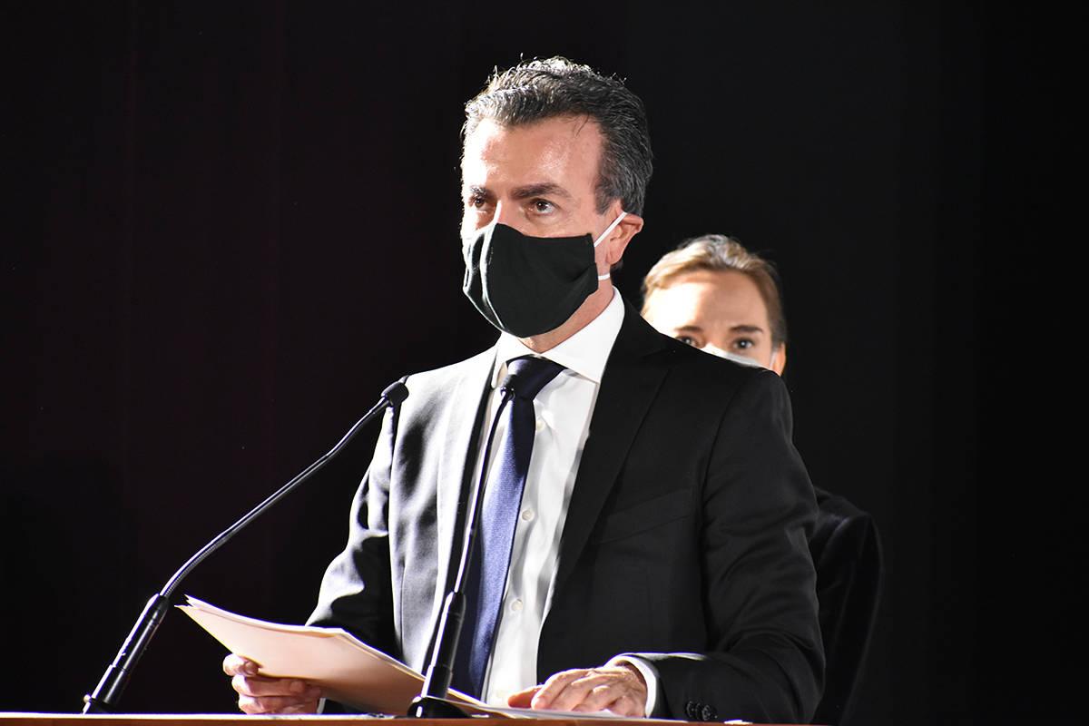 El presidente del FICM, Alejandro Ramírez, emite un mensaje durante la ceremonia inaugural del ...