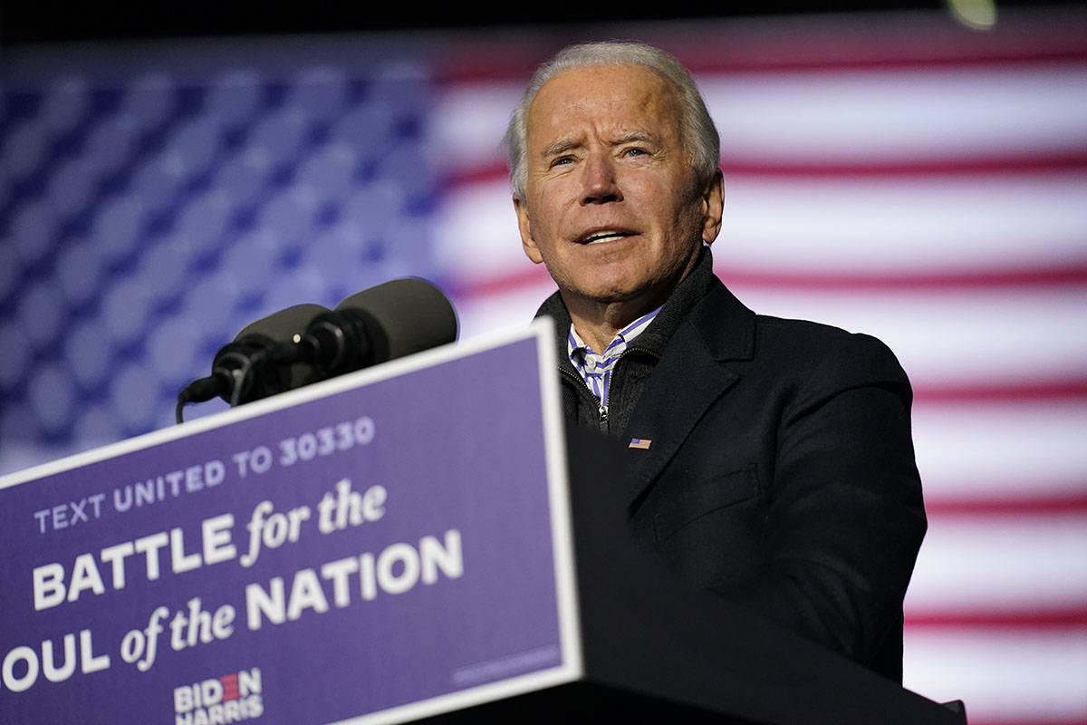El candidato presidencial demócrata, el ex vicepresidente Field el lunes, 2 de noviembre de 20 ...