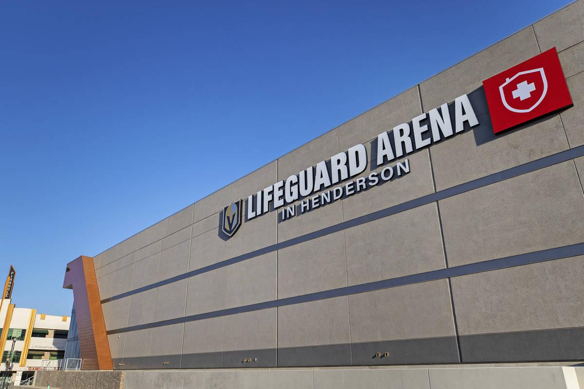 Silver Knights' Lifeguard Arena el lunes, 26 de octubre de 2020, en Henderson. (Benjamin Hager/ ...