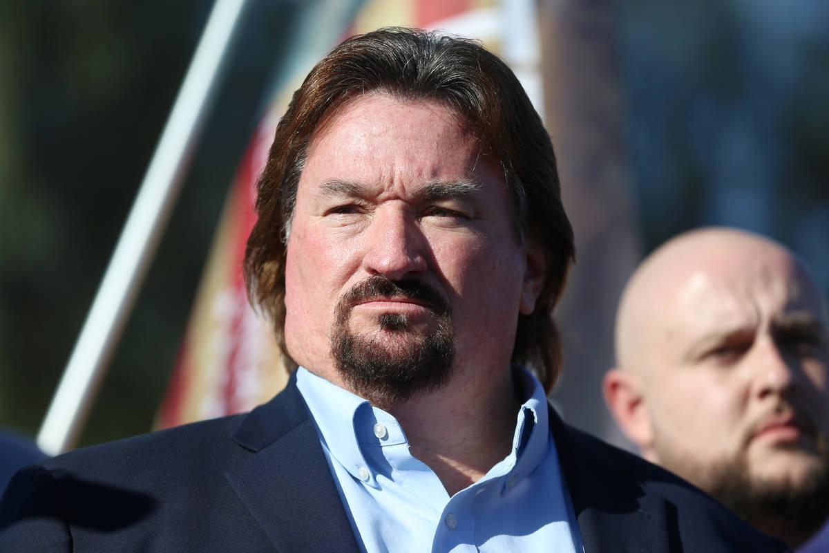 Michael McDonald, presidente del Partido Republicano de Nevada, participa en una conferencia de ...