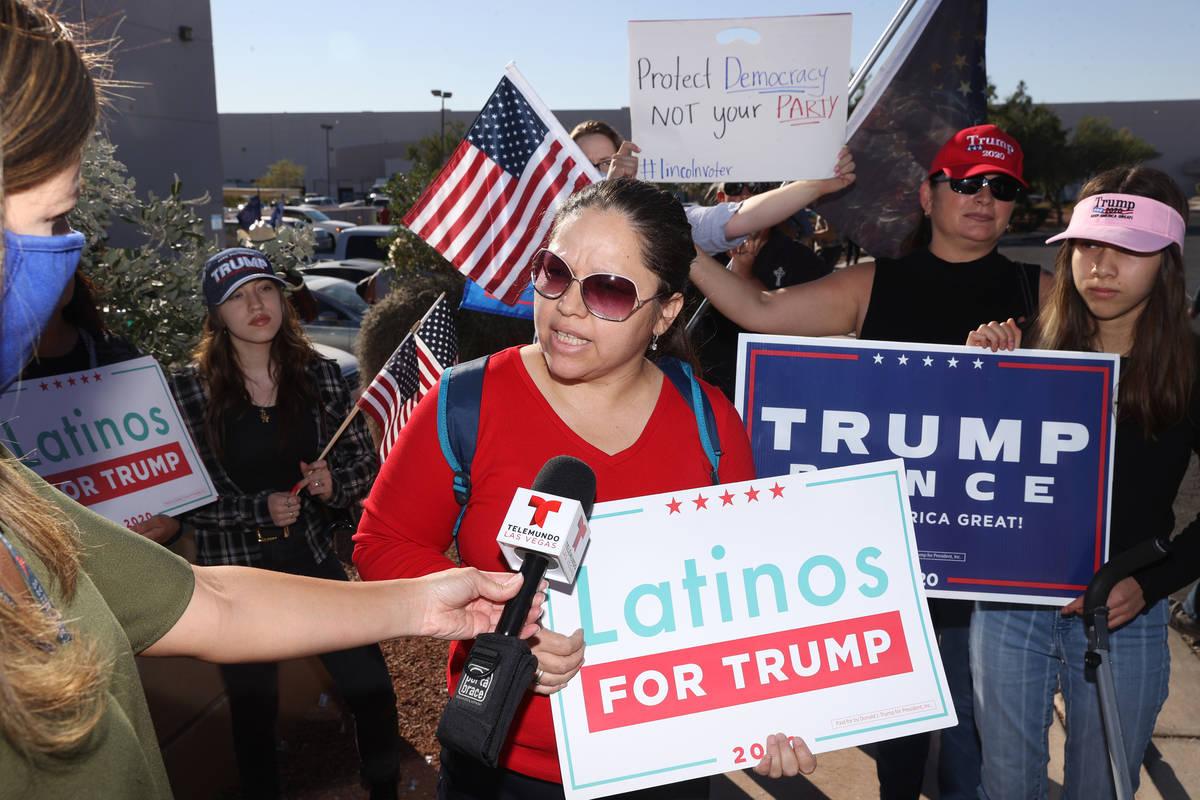 Hilda Guerrero de Las Vegas, afirma que hay corrupción en las elecciones presidenciales durant ...