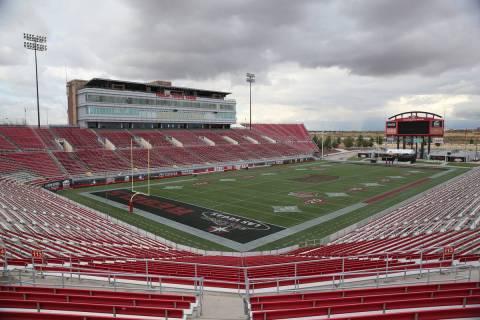 Estadio Sam Boyd en Las Vegas, jueves 21 de noviembre de 2019. (Erik Verduzco / Las Vegas Revie ...