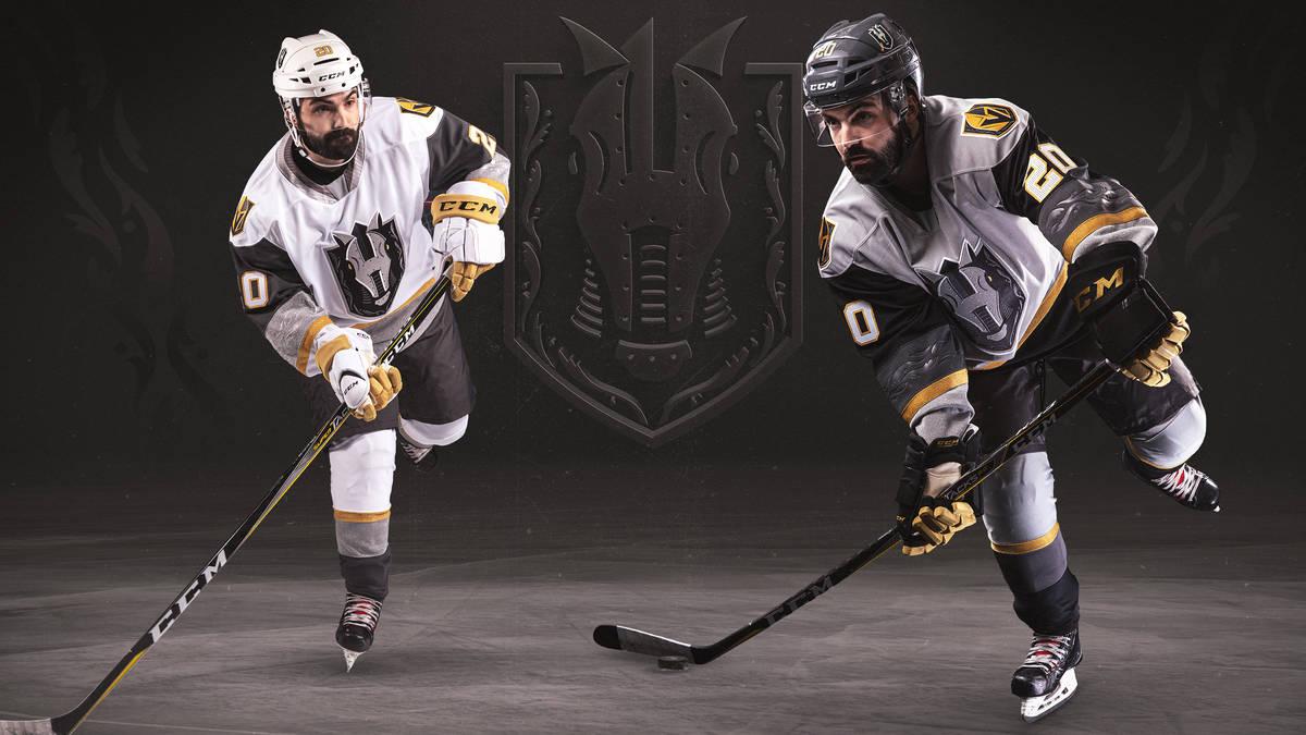 La nueva jersey de los Henderson Silver Knights, revelada el lunes por la noche. (Foto cortesí ...