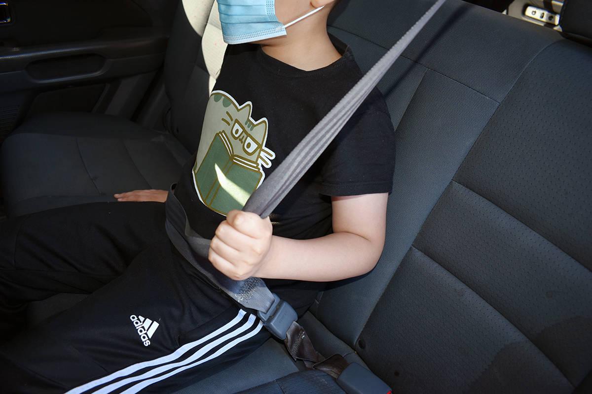El uso obligatorio del cinturón de seguridad en los vehículos aplica también para los niños ...