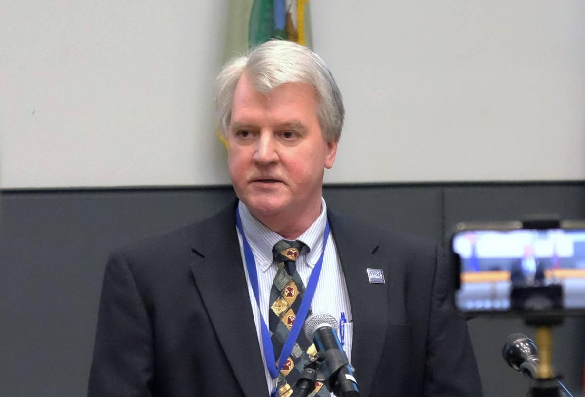 Kevin Dick, oficial de salud del Distrito de Salud del Condado Washoe en marzo de 2020. (Bill D ...
