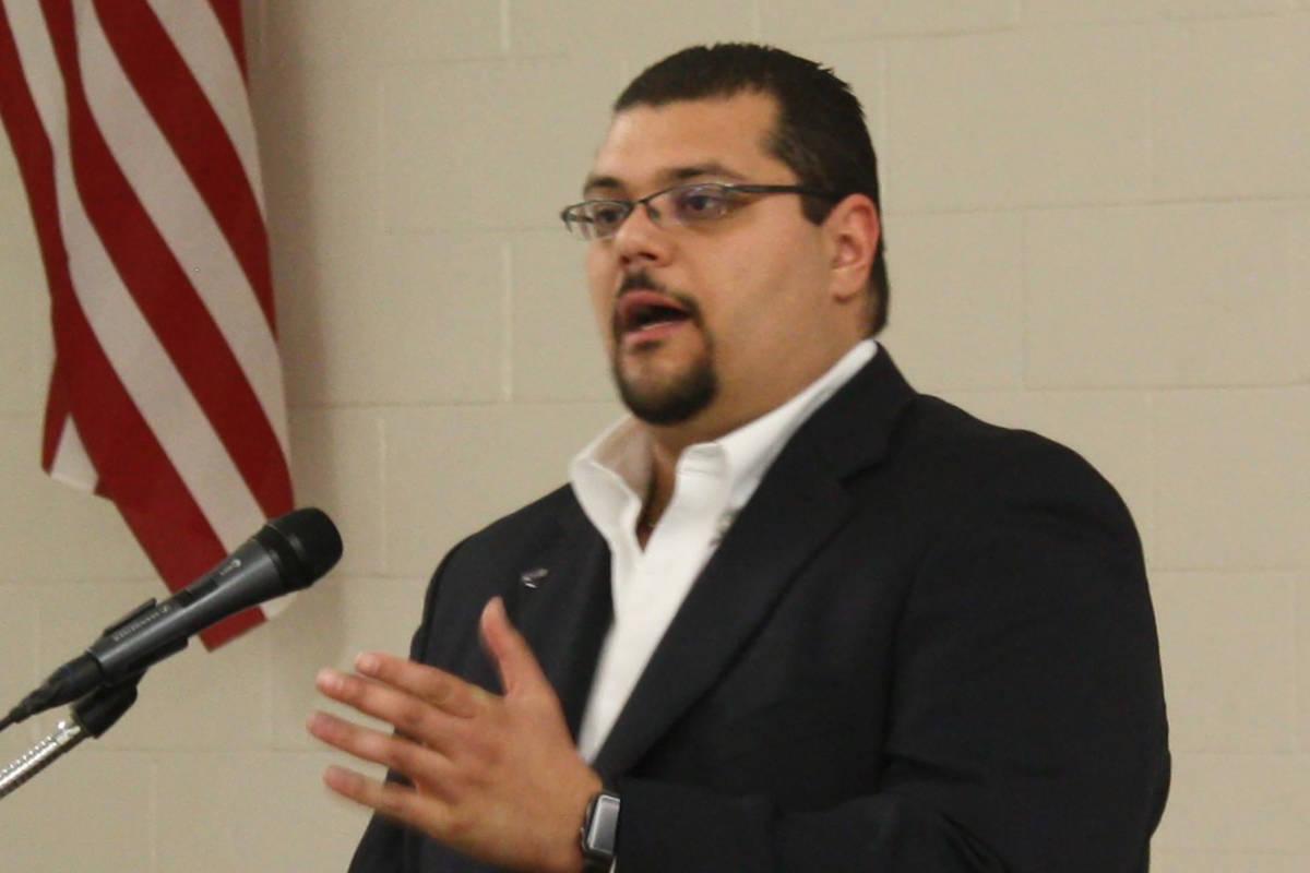 El comisionado del Condado Nye, Leo Blundo (Robin Hebrock/Pahrump Valley Times)