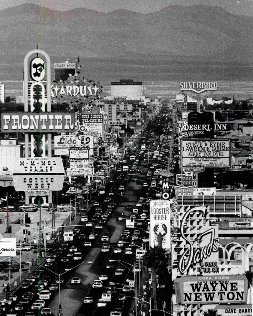 El Strip de Las Vegas en esta foto de archivo sin fecha. (Archivo del Las Vegas Review-Journal)