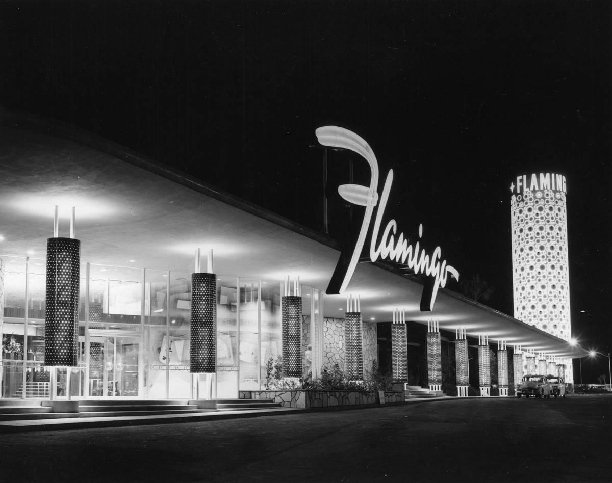 El hotel-casino Flamingo en esta foto de archivo sin fecha. (Cortesía del Museo del Estado de ...