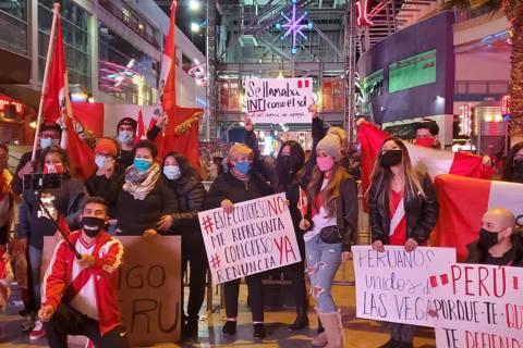 Los peruanos en el extranjero se han unido y Las Vegas no es la excepción. Domingo 15 de novie ...