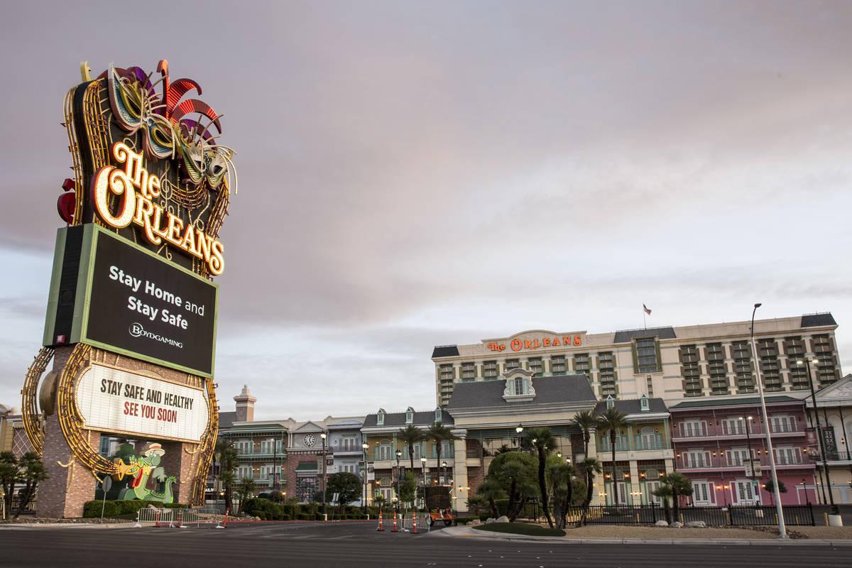 The Orleans fotografiado el martes, 12 de mayo de 2020, en Las Vegas. (Bizuayehu Tesfaye/Las Ve ...