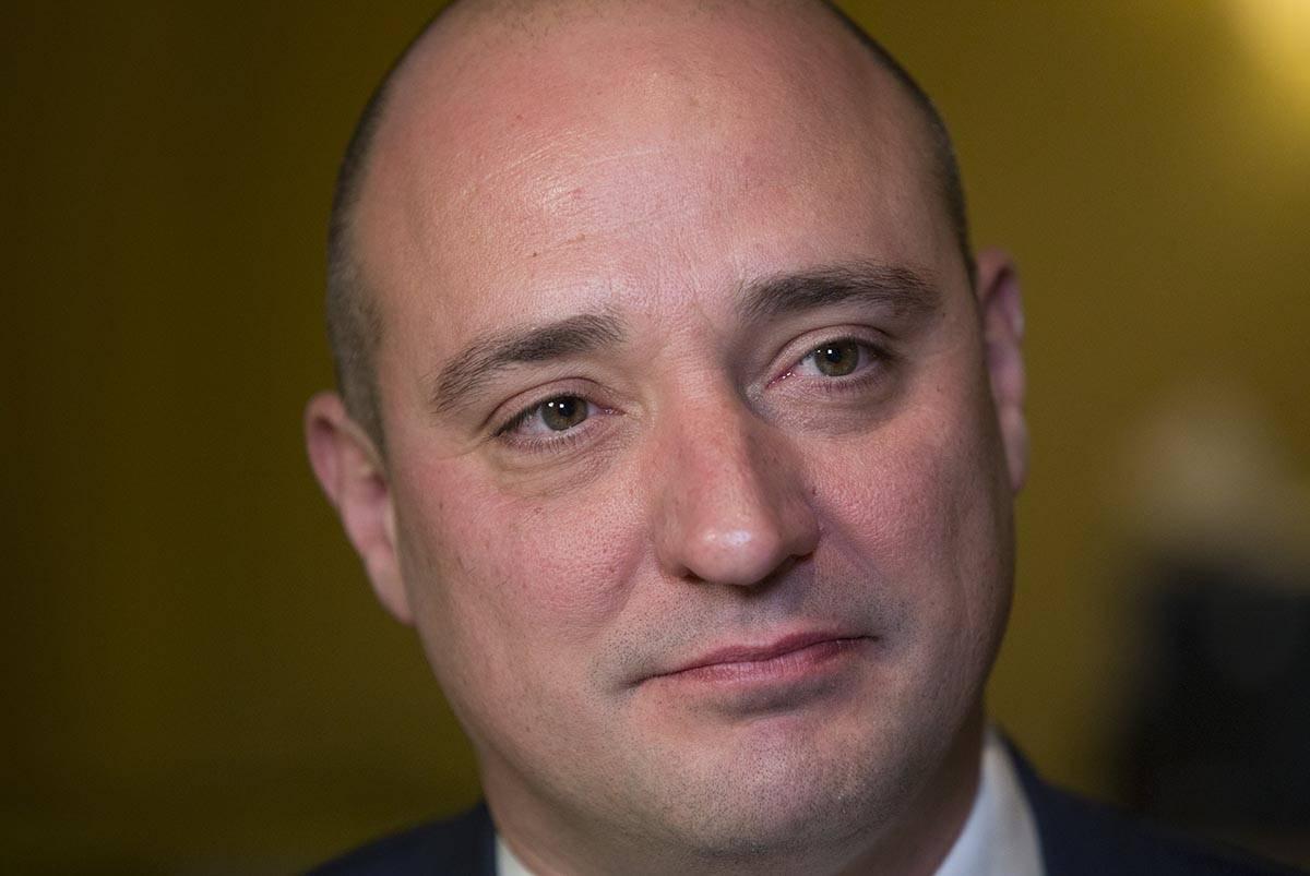 Matt Maddox, el recién nombrado director ejecutivo de Wynn Resorts Ltd., durante una entrevist ...