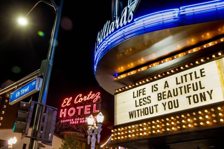 Tony Hsieh una vez escaló el exterior del Fremont Country Club. (L.E. Baskow/Las Vegas Review- ...