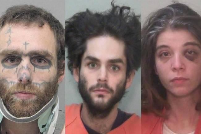 Desde la izquierda: Christopher McDonnell, Shawn McDonnell y Kayleigh Lewis. (Policía de Hende ...