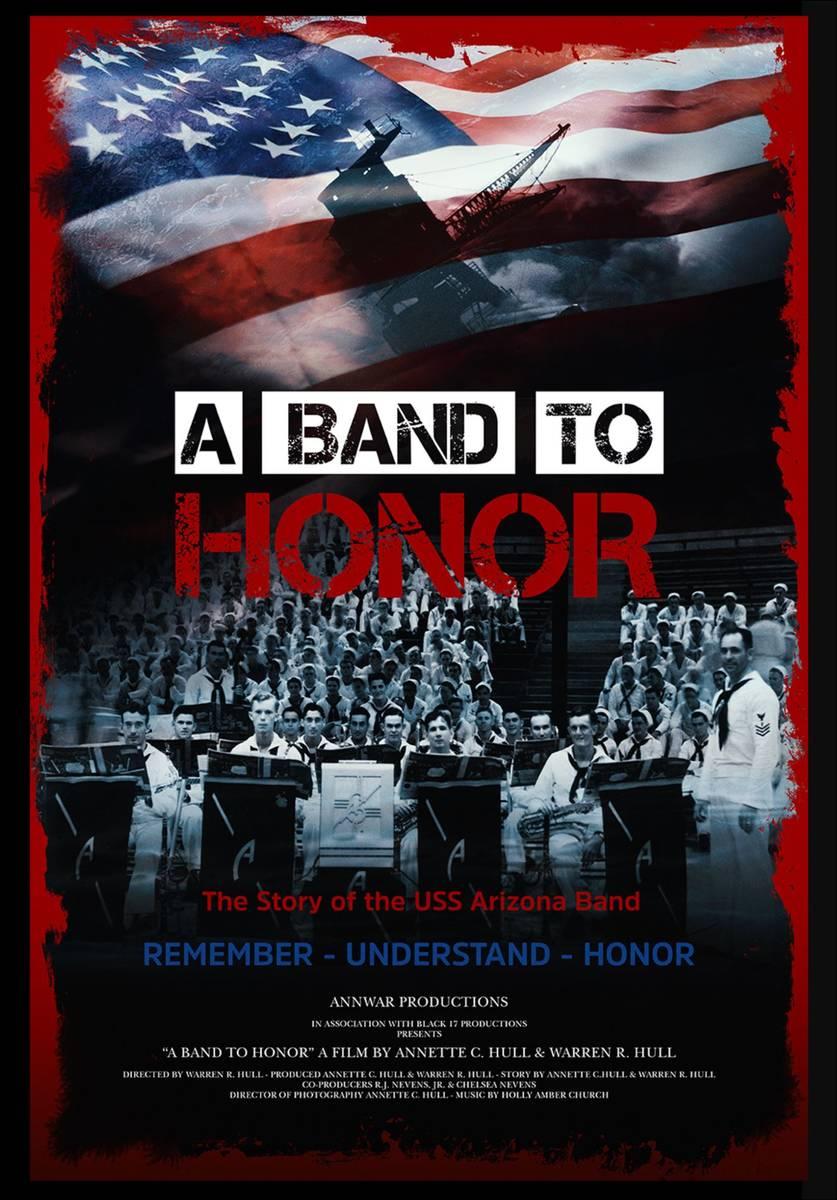 """Poster de """"A Band to Honor,"""" un documental sobre la banda U.S.S. Arizona. (AnnWar Productions)"""