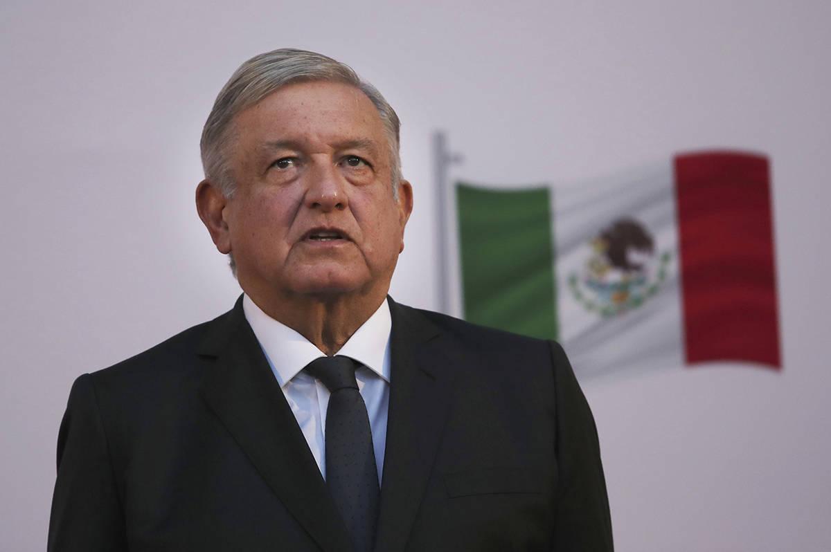 El presidente mexicano, Andrés Manuel López Obrador, durante la conmemoración de su segundo ...