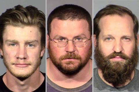 Andrew Lynam, izquierda, William Loomis y Stephen Parshall (LVMPD)