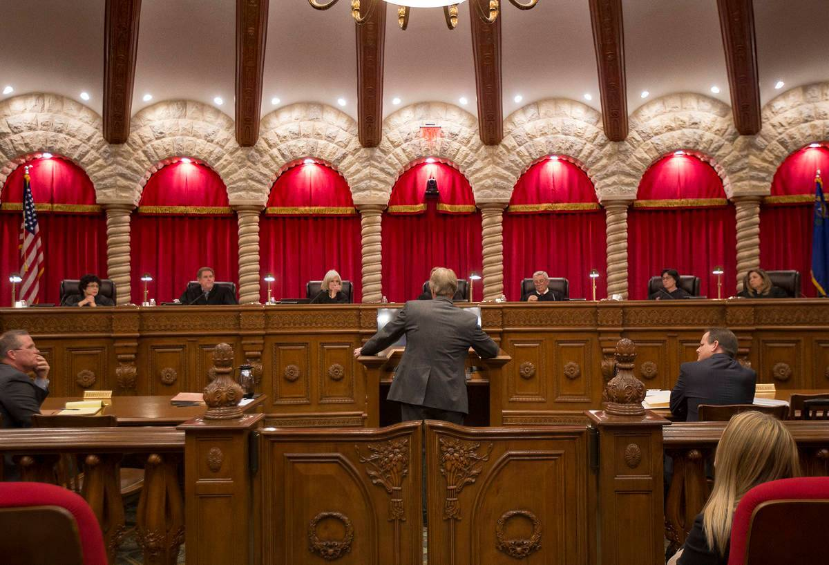 Corte Suprema de Nevada. [Foto Rachel Aston / Las Vegas Review-Journal]
