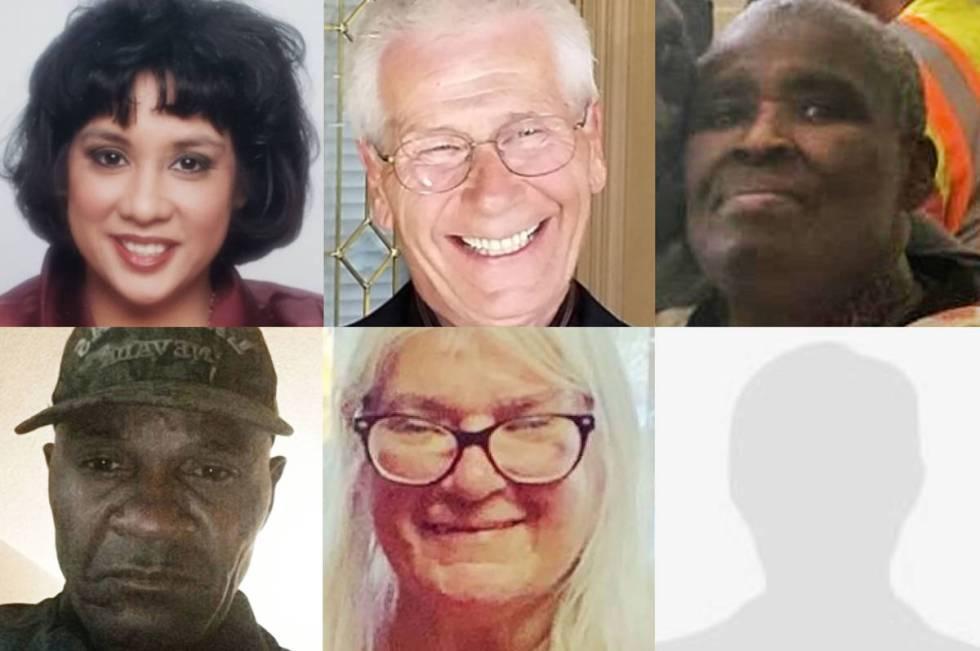 Fotos de archivo compuestas sin fecha de las víctimas del incendio del Motel Alpine. (Fila sup ...